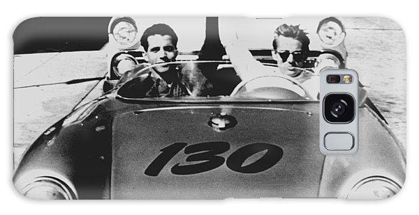 Classic James Dean Porsche Photo Galaxy Case