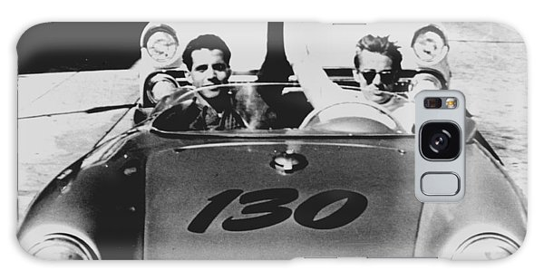 Classic James Dean Porsche Photo Galaxy Case