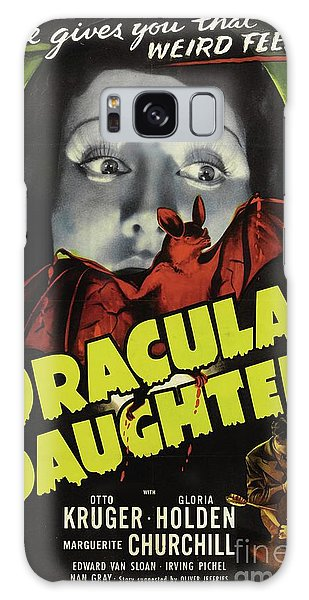 Dracula Galaxy Case - Classic Movie Poster - Draculas Daughter by Esoterica Art Agency
