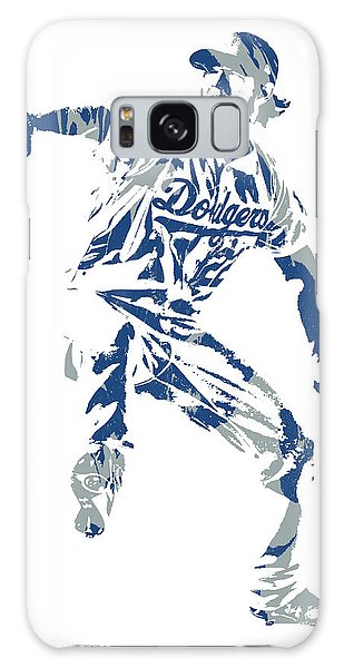 Clayton Galaxy Case - Clayton Kershaw Los Angeles Dodgers Pixel Art  100 by Joe Hamilton