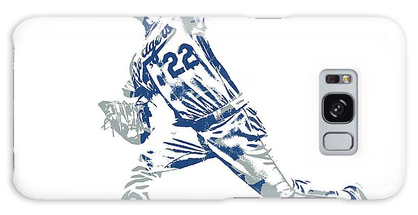 Clayton Galaxy Case - Clayton Kershaw Los Angeles Dodgers Pixel Art 30 by Joe Hamilton