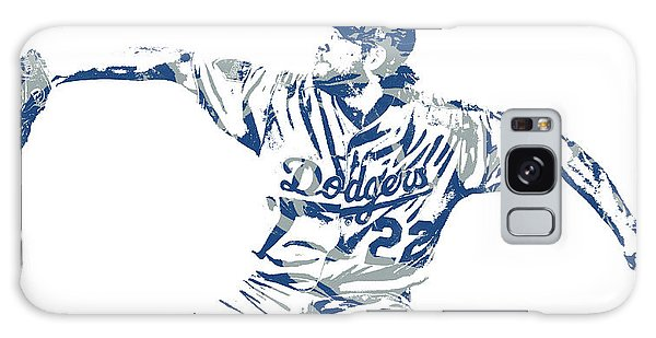 Clayton Galaxy Case - Clayton Kershaw Los Angeles Dodgers Pixel Art 50 by Joe Hamilton