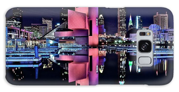 Town Square Galaxy Case - Cleveland Rocks Cleveland Rocks Cleveland Rocks by Frozen in Time Fine Art Photography