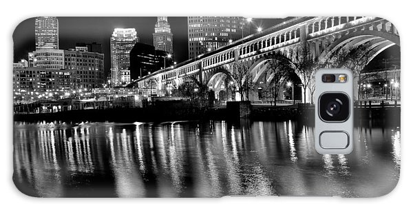 Town Square Galaxy Case - Cleveland Skyline by Frozen in Time Fine Art Photography