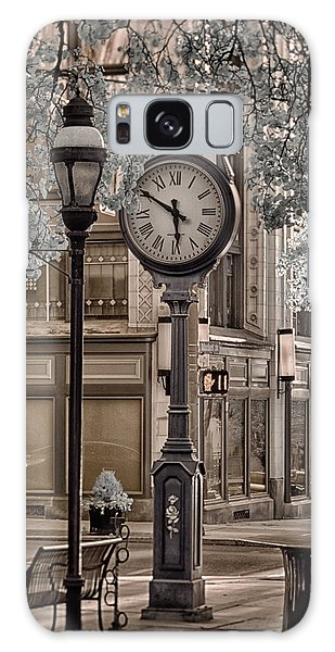 Clock On Street Galaxy Case