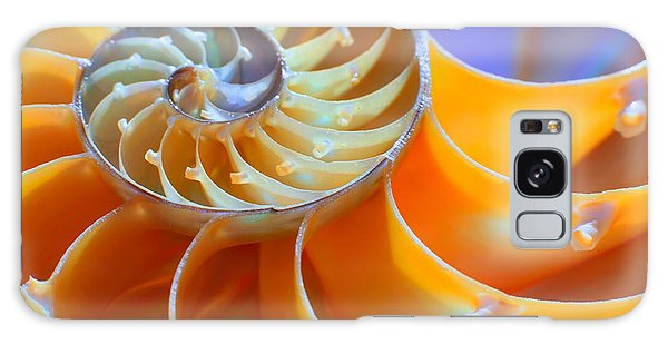 Natural Galaxy Case - Close-up Of A Nautilus Shell Section by Aabeele