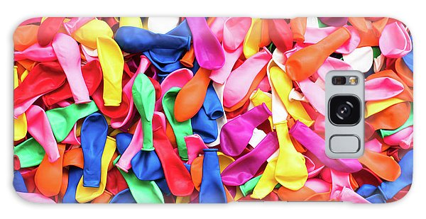 Close-up Of Many Colorful Children's Balloons, Background For Mo Galaxy Case