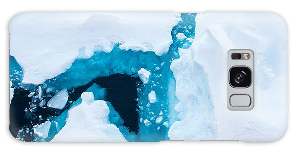 Navigation Galaxy Case - Close Up Photo Of Beautiful Blue Ice In by Mikhail Varentsov