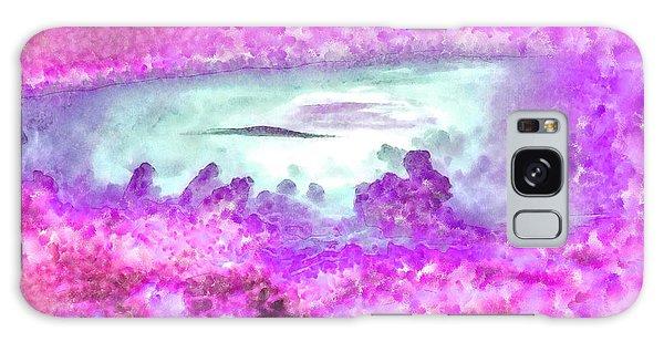 Reef Diving Galaxy Case - Cloud Abstractions Purple - Da by Leonardo Digenio
