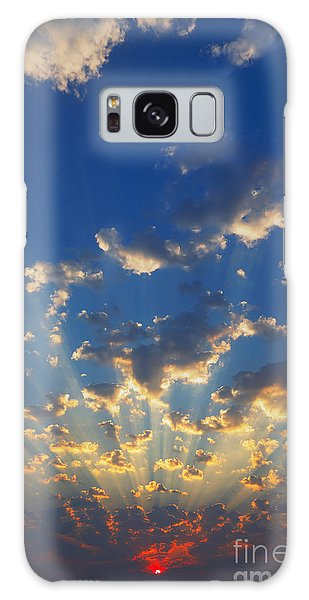 Cloudscape Galaxy Case - Cloudscape With Sun-rays Shining by Johan Swanepoel