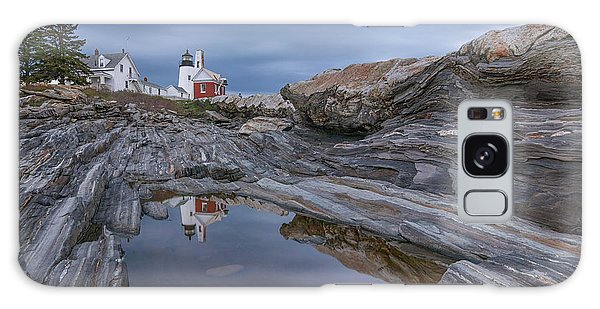 Cloudy Afternoon At Pemaquid Point Galaxy Case