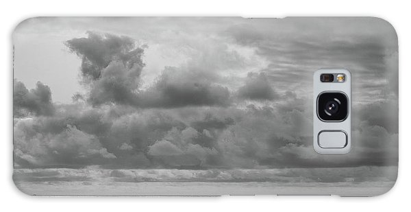 Galaxy Case featuring the photograph Cloudy Morning Rough Waves by Steve Stanger
