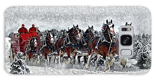 Clydesdales Hitch In Snow Galaxy Case