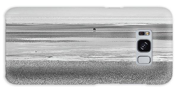 Coastal Brown Bear On  A Beach In Monochrome Galaxy Case