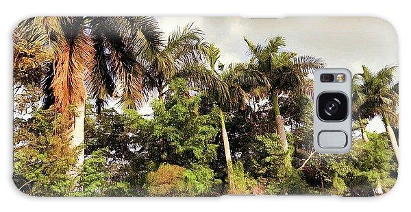 Coconut Trees Galaxy Case