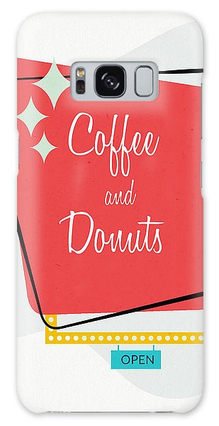 Galaxy Case featuring the digital art Coffee And Donuts- Art By Linda Woods by Linda Woods