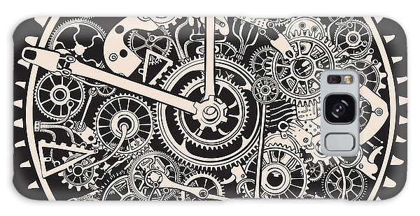 Limb Galaxy Case - Cogs And Gears Of Clock by Ryger