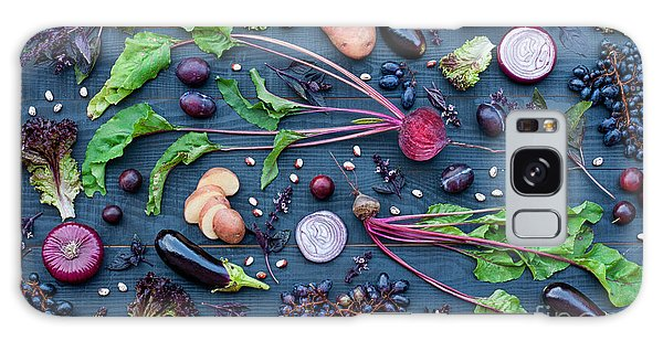 Potato Galaxy Case - Collection Of Fresh Purple Fruit And by Kateryna Sednieva