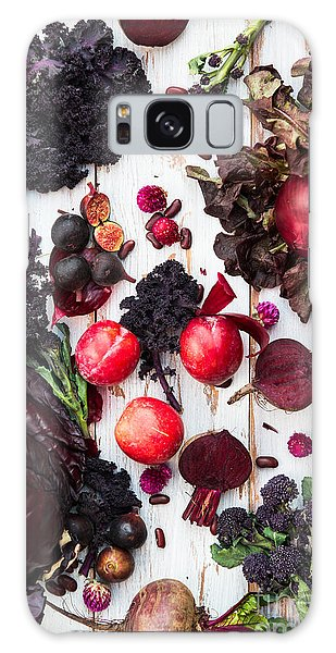 Potato Galaxy Case - Collection Of Fresh Purple Fruits And by Anna Mente