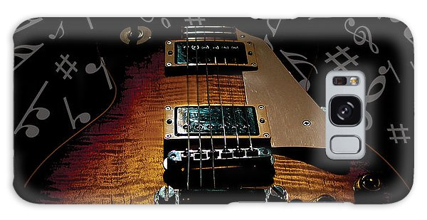 Galaxy Case featuring the digital art Color Country Music Guitar Notes by Guitar Wacky