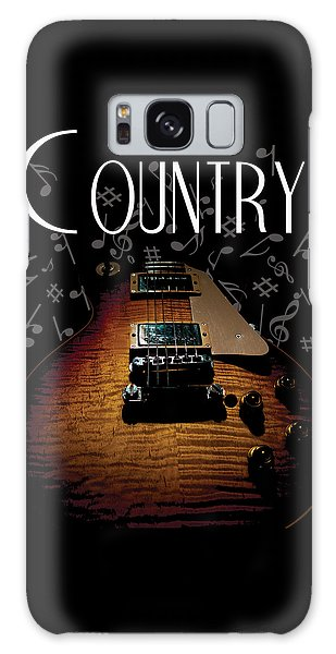 Color Country Music Guitar Notes Galaxy Case