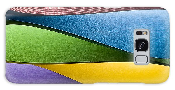 Decorative Galaxy Case - Colored Paper Background Stacked In by Steve Collender