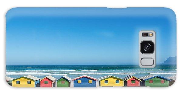 Bath Galaxy Case - Colorful Bathhouses At Muizenberg, Cape by E. P. Adler