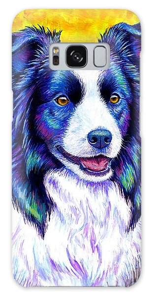 Colorful Border Collie Dog Galaxy Case