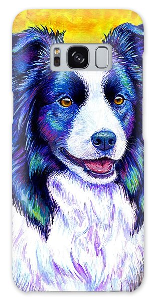 Colorful Border Collie Dog Galaxy Case