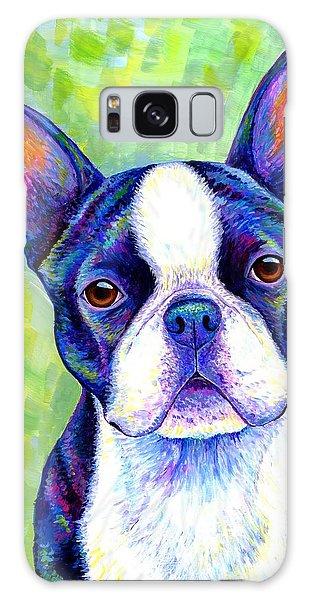 Colorful Boston Terrier Dog Galaxy Case