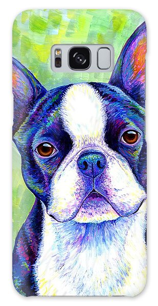 Colorful Boston Terrier Dog Galaxy Case