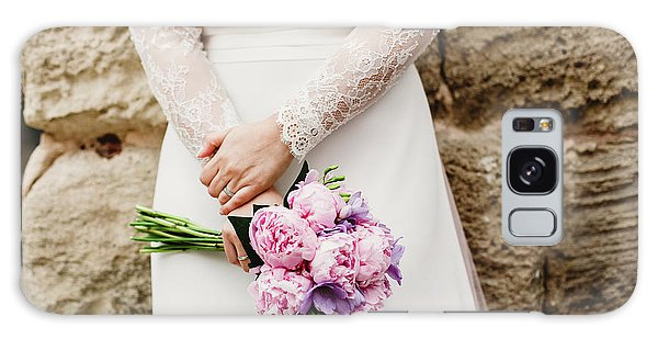 Colorful Bridal Bouquets With Flowers Galaxy Case