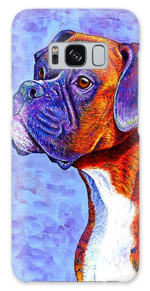 Colorful Brindle Boxer Dog Galaxy Case