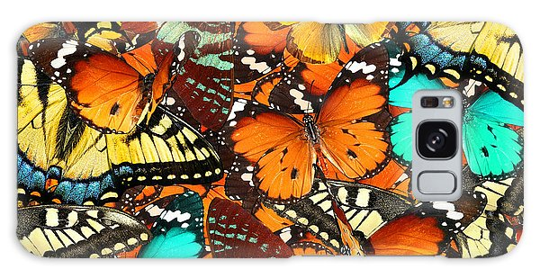 Decorative Galaxy Case - Colorful Butterflies Background. Nature by Protasov An