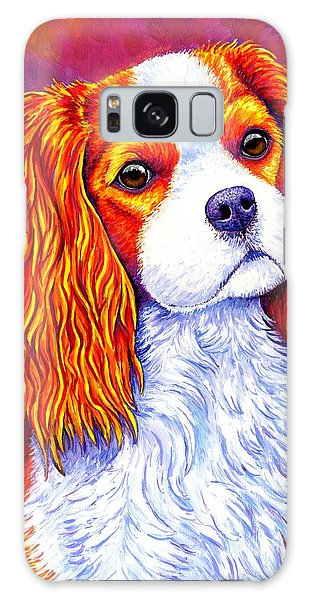 Colorful Cavalier King Charles Spaniel Dog Galaxy Case