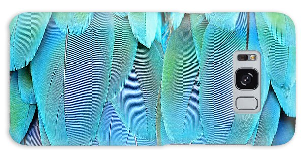 Macaw Galaxy Case - Colorful Feathers, Harlequin Macaw by Panu Ruangjan