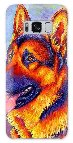 Colorful German Shepherd Dog Galaxy Case