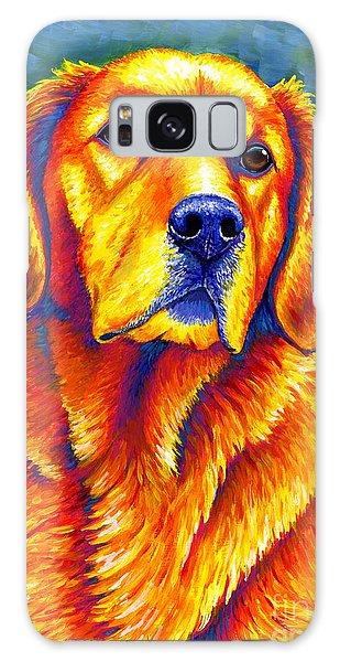 Colorful Golden Retriever Dog Galaxy Case