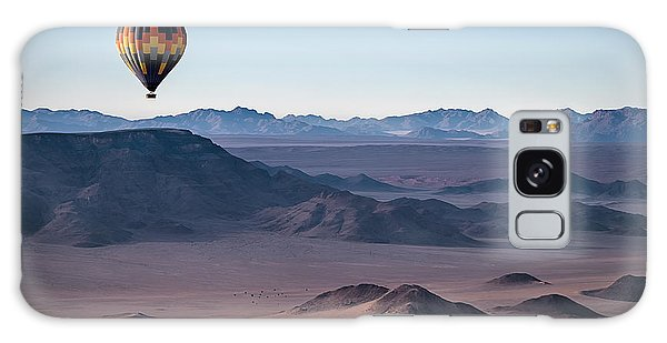 Scenery Galaxy Case - Colorful Hot-air Balloon Flying Over by Liz Glasco