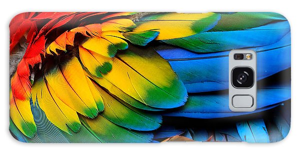 Macaw Galaxy Case - Colorful Of Scarlet Macaw Birds by Super Prin