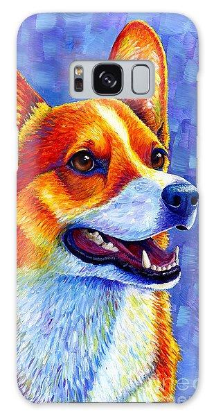 Colorful Pembroke Welsh Corgi Dog Galaxy Case