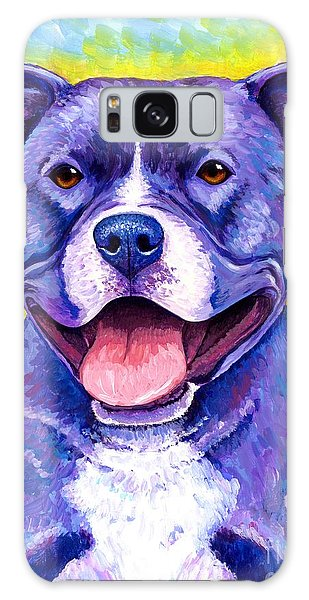 Colorful Pitbull Terrier Dog Galaxy Case