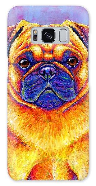 Colorful Rainbow Pug Dog Portrait Galaxy Case