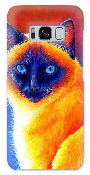 Jewel Of The Orient - Colorful Siamese Cat Galaxy Case