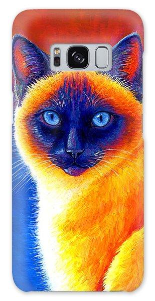 Colorful Siamese Cat Galaxy Case