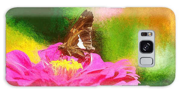 Colorful Silver Spotted Skipper Butterfly Galaxy Case
