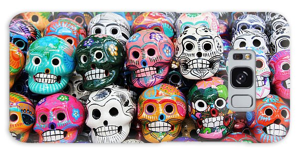 Death Galaxy Case - Colorful Skull From Mexican Tradition by Sisqopote