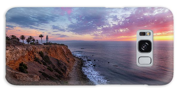 Colorful Sky After Sunset At Point Vicente Lighthouse Galaxy Case