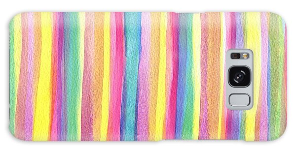 Wall Paper Galaxy Case - Colorful Striped by ArtMarketJapan
