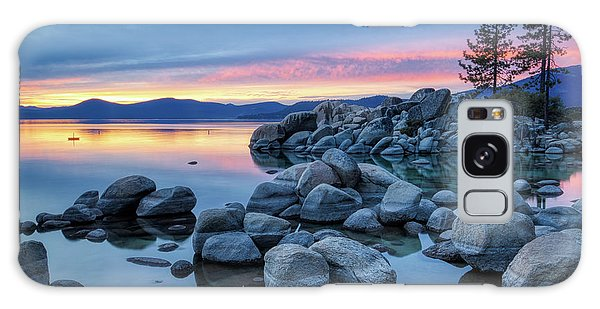 Colorful Sunset At Sand Harbor Galaxy Case